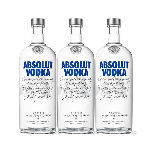 PROMOCIÓN ABSOLUT ORIGINAL X3 Botellas de 750ml